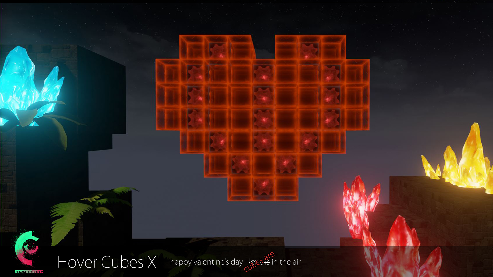 happy Valentine's Day – cubes are in the air